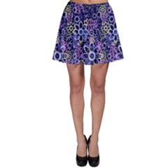 Night Flowers Skater Skirt by olgart
