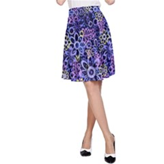 Night Flowers A-Line Skirt by olgart