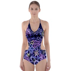 Night Flowers Cut-Out One Piece Swimsuit by olgart