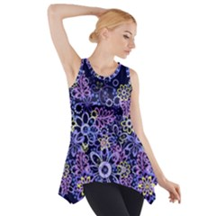 Night Flowers Side Drop Tank Tunic by olgart