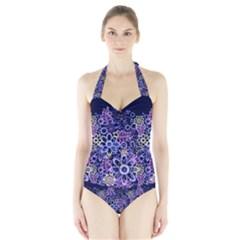 Night Flowers Halter Swimsuit by olgart