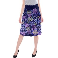 Night Flowers Midi Beach Skirt by olgart