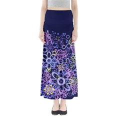 Night Flowers Maxi Skirts by olgart