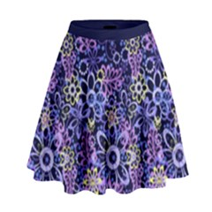 Night Flowers High Waist Skirt by olgart