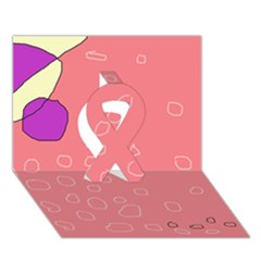 Pink Abstraction Ribbon 3d Greeting Card (7x5)  by Valentinaart