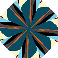 Colorful Lines  Hook Handle Umbrellas (small) by Valentinaart