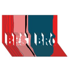 Decorative Lines Best Bro 3d Greeting Card (8x4)  by Valentinaart
