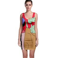 Imaginative abstraction Sleeveless Bodycon Dress