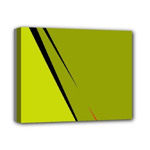Yellow Elegant Design Deluxe Canvas 14  X 11  by Valentinaart