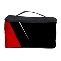 Black and red design Cosmetic Storage Case by Valentinaart