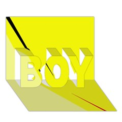 Yellow Design Boy 3d Greeting Card (7x5) by Valentinaart