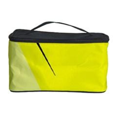 Yellow design Cosmetic Storage Case by Valentinaart
