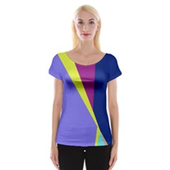 Geometrical Abstraction Women s Cap Sleeve Top by Valentinaart