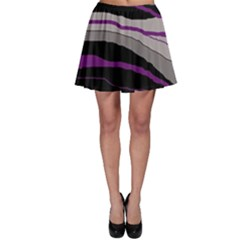 Purple and gray decorative design Skater Skirt