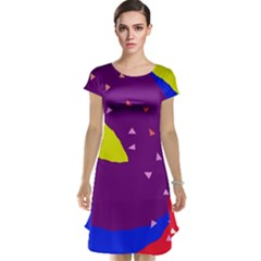 Optimistic Abstraction Cap Sleeve Nightdress by Valentinaart