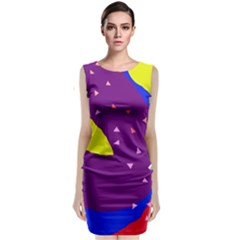 Optimistic Abstraction Classic Sleeveless Midi Dress by Valentinaart