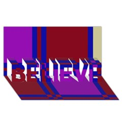 Deorative Design Believe 3d Greeting Card (8x4)  by Valentinaart
