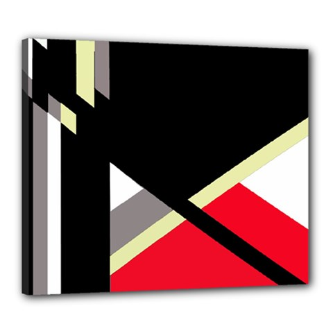 Red And Black Abstraction Canvas 24  X 20  by Valentinaart