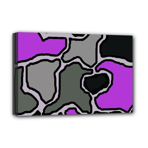 Purple And Gray Abstraction Deluxe Canvas 18  X 12   by Valentinaart