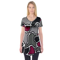 Decorative abstraction Short Sleeve Tunic  by Valentinaart