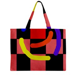 Multicolor Abstraction Zipper Mini Tote Bag by Valentinaart