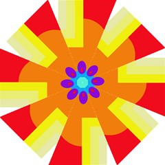 Colorful Abstraction Straight Umbrellas by Valentinaart