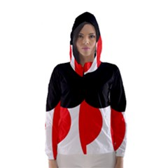 Red, Black And White Hooded Wind Breaker (women) by Valentinaart