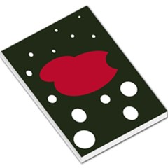 Red, Black And White Abstraction Large Memo Pads by Valentinaart