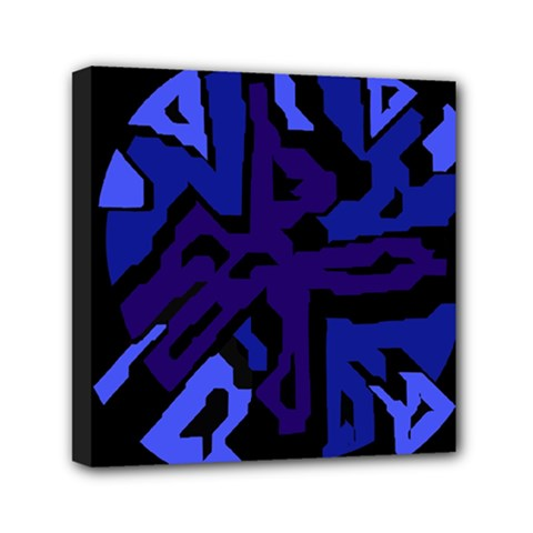 Deep blue abstraction Mini Canvas 6  x 6  by Valentinaart