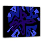 Deep blue abstraction Canvas 20  x 16