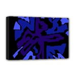 Deep blue abstraction Deluxe Canvas 18  x 12