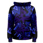 Deep blue abstraction Women s Pullover Hoodie