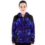 Deep blue abstraction Women s Zipper Hoodie