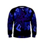 Deep blue abstraction Kids  Sweatshirt