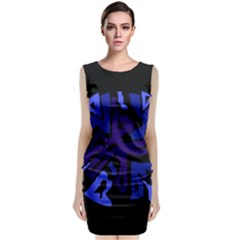 Deep blue abstraction Classic Sleeveless Midi Dress by Valentinaart