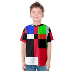 Colorful abstraction Kid s Cotton Tee by Valentinaart