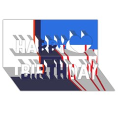 Decorative Abstraction Happy Birthday 3d Greeting Card (8x4)  by Valentinaart