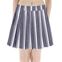Elegant lines Pleated Mini Mesh Skirt by Valentinaart
