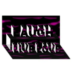 Purple And Black Laugh Live Love 3d Greeting Card (8x4)  by Valentinaart