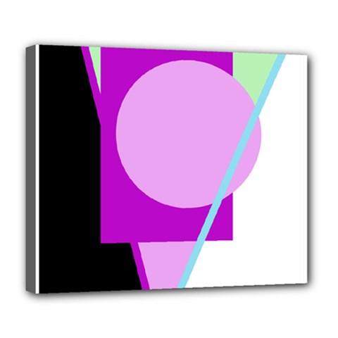 Purple Geometric Design Deluxe Canvas 24  X 20   by Valentinaart