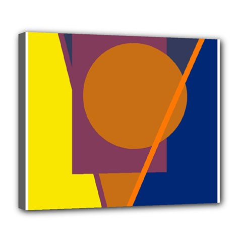 Geometric Abstract Desing Deluxe Canvas 24  X 20   by Valentinaart
