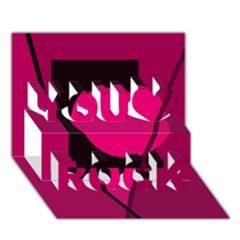 Decorative Geometric Design You Rock 3d Greeting Card (7x5)  by Valentinaart
