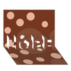 Brown Abstract Design Hope 3d Greeting Card (7x5)  by Valentinaart