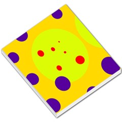 Yellow And Purple Dots Small Memo Pads by Valentinaart