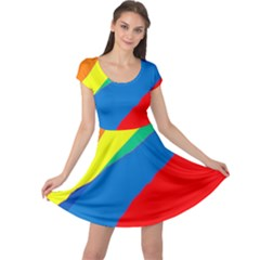 Colorful abstract design Cap Sleeve Dresses by Valentinaart