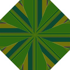 Green Elegant Lines Golf Umbrellas by Valentinaart