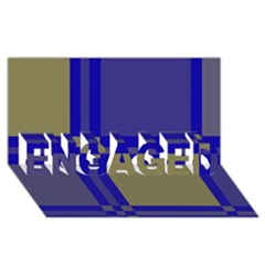 Blue Design Engaged 3d Greeting Card (8x4)  by Valentinaart