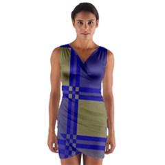 Blue design Wrap Front Bodycon Dress by Valentinaart