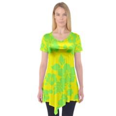 Bright Hawaiian Short Sleeve Tunic  by AlohaStore