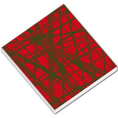 Red Pattern Small Memo Pads by Valentinaart